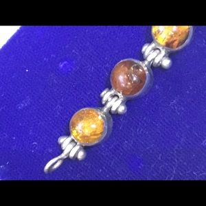 Amber and Silver (925) bracelet.